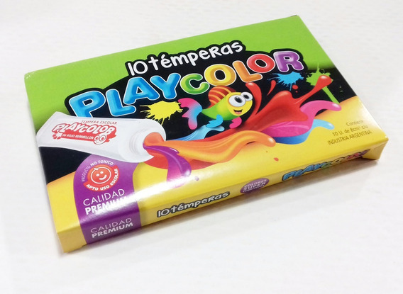 Temperas Playcolor 10 Pomos Surtidos