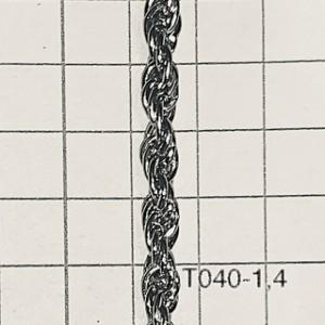 Cht0401.4 Cadena De Hierro X 1 Mts Turbillon Alambre 1.4 Espesor