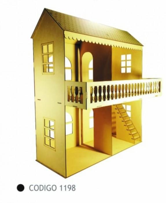 Casa 2 Pisos Con Escalera 85x75x30 Cm de Fibrofacil