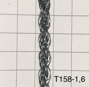 Ch1581.6 Cadena De Hierro X 1 Mts Turbillon Alambre 1.6 De Espesor