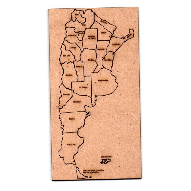 Rompecabezas Mapa Argentina 35x50cm de Fibrofacil