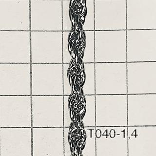 Cht401,4 Cadena De Hierro X Mtr Turbillon Alambre 1,4  Espesor