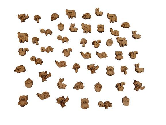 FORMITA  ANIMAL MADERA X 25 UNIDADES (2CM)
