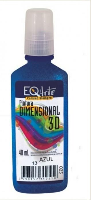 Dimensional 3d Metalizado X 40 Cc