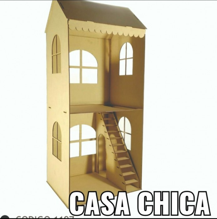 Casa 2 Pisos 36x85x30 Cm de Fibrofacil