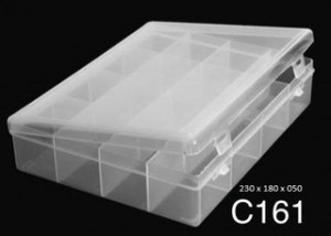 C161 16 Div T/reb Pp 23x18x5cm