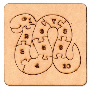 Rompecabezas Serpiente 15cm (+2 Años) de Fibrofacil