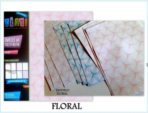 Papel A4 Multifuncion 150gr Floral X10 U X Color