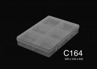 C164 6 Div Tap/reb. Pp  16x11,6x 2,6 Cm