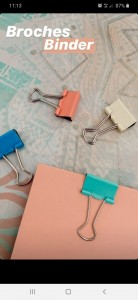 Binder Clips Color Nro 1 (19 Mm) X 6 Unidades
