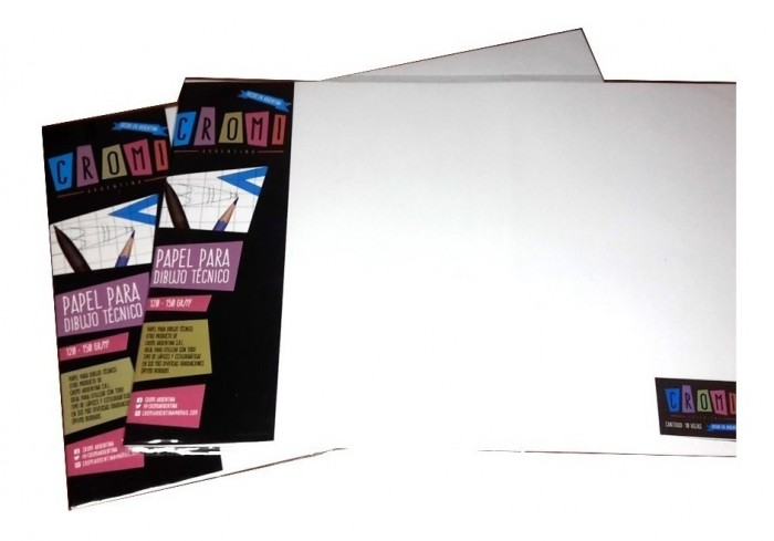 Papel Para Dibujo Tecnico 35x50cm 150gr X10