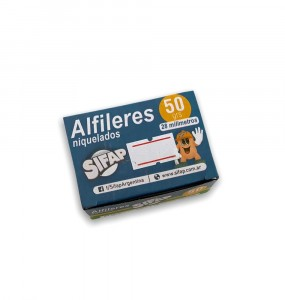 ALFILERES NIQUELADOS POR 50 GRAMOS 28MM