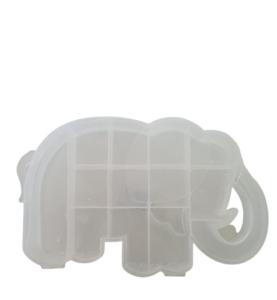 CAJA PLASTICA ELEFANTE 19 X 12 Y y 3 cm alto CON DIVISIONES