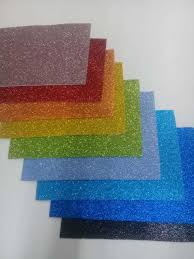 goma eva glitter A 4 autoadhesiva