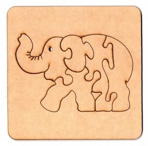 Rompecabezas Elefante 15cm (+2 Años) de Fibrofacil