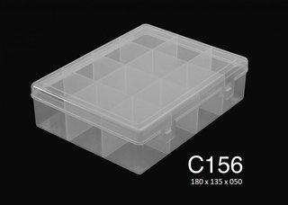 C156 12 Div T/reb Pp 18x13.5x5cm