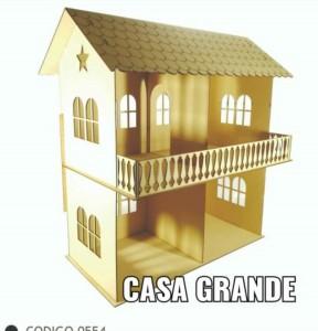 Casa 2 Pisos 60x70x37 Cm de Fibrofacil