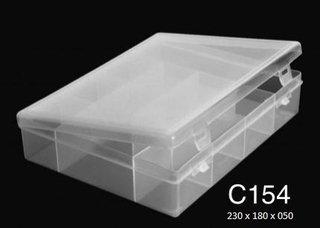 C154 12 Div T/reb Pp 23x18x5cm