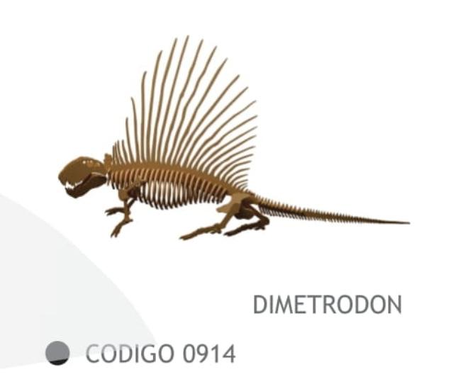 Dimetrodon 56cm de Fibrofacil