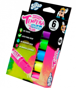 Temperas Solida Fluo X 6 Uds