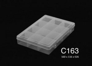 C163 12 Div T/reb Pp 16x11,6x2,6cm.