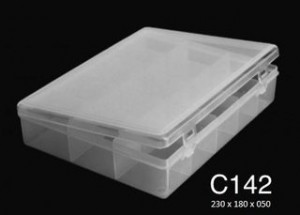 C142 4 Div T/reb Pp 23x18x5cm