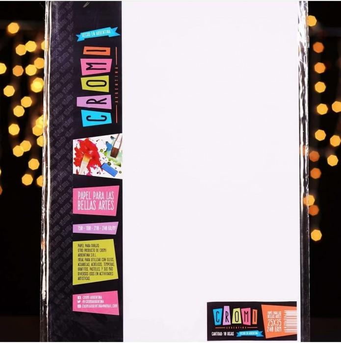 Papel Para Bellas Artes 35x50cm 240gr X10